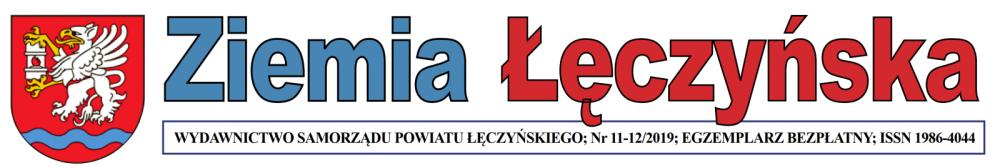 """Fragment strony tutułowej gazety """"Ziemia Łęczyńska"""""""